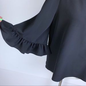 Catherine Malandrino Tops - {Catherine Malandrino} Black Flair top *2311